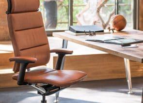 Lederen directiestoel met een klassieke uitstraling en veel zitcomfort