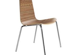 Casprini stoel Baby hout fineer met 4 poots onderstel