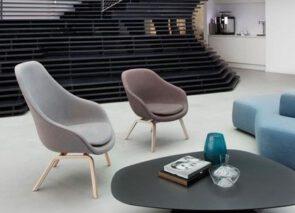 Hay sfeer about a Lounge chair hoge en lage rug