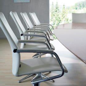 Klober luxe lederen vergaderfauteuil