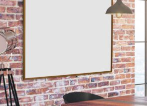 Whitebord Softline Eiken-houtlook op kantoor