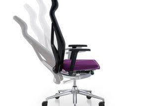 Flexibele bureaustoel - directiestoel met hoge rug en hoofdsteun
