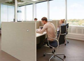 Bureauwanden kantoor akoestisch dempend natuurlijke lichte uitstraling