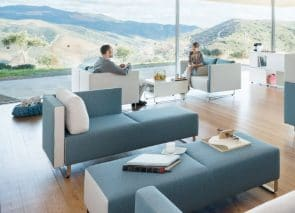 Modulair banken systeem voor op kantoor of in wachtruimte moderne kantoorinrichting