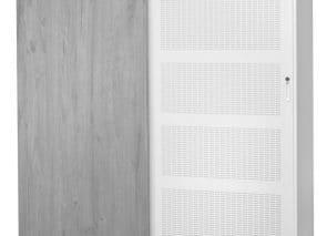 Schuifdeurkast akoestisch dempend houten paneel