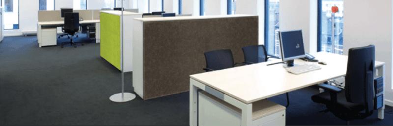Kasten zijn belangrijk voor de kantoorakoestiek