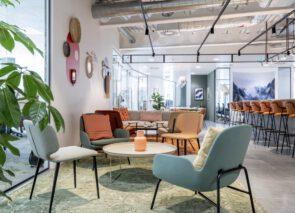 Breakout space - ontspannings ruimte op kantoor.