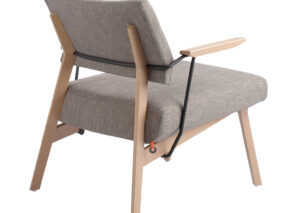 Mobitec LINDSAY fauteuil met retro uitstraling