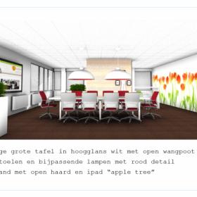 kantoorinrichting Utrecht tafel met stoelen