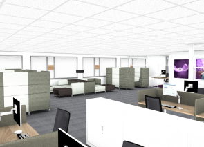 kantoorontwerp lounge hoek