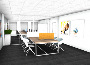 Kantoorontwerp in 3D voor Nationaal Ouderenfonds