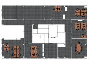 2D ontwerp 1e etage ICBC