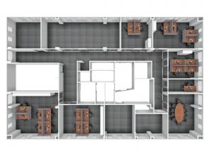 3D inzicht 1e etage ICBC