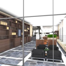 3D inzicht van interieurontwerp UVT