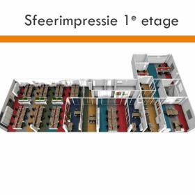 kantoorinrichting belgie sfeerimpressie 1e etage
