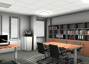 rendering mangers office met plafond