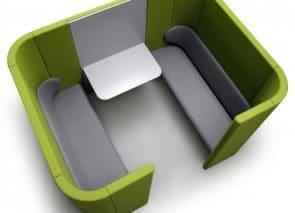 Lande Rondo Akoestische overlegplek, vergadermeubel stilte werkplek voor op kantoor waarin je in alle rust kunt overleggen, presenteren of vergaderen