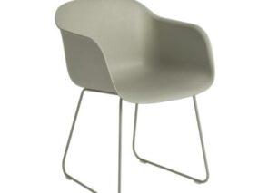 Muuto Fiber chair met slede onderstel