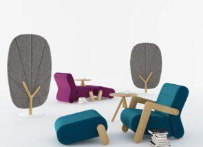 Mikomax Base stoel met voetenbank voor relaxen op kantoor