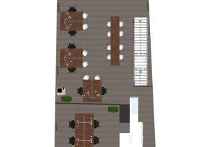 2D ontwerp kantoorinrichting Pro Industry