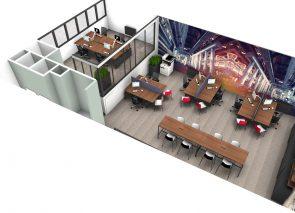 3D ontwerp kantoor interieurarchitectuur