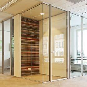 volglas wand kantoorrenovatie volglasdeur