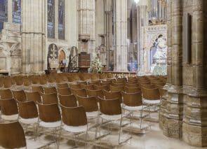 Zaalstoel en kerkstoel Westminster Abbey