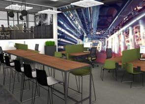 kantoorontwerp Ontwerpfase andere kleurstelling Pro Industry