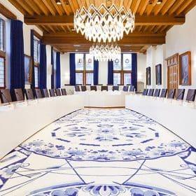 Donkersloot karpet Delfts Blauw
