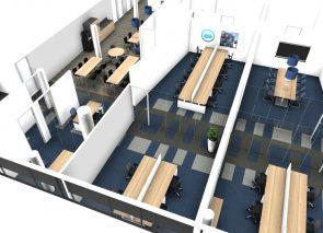 3D inzicht werkplekken en pantry