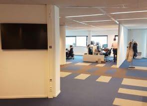 Inzicht in kantoortuin Panalpina Rotterdam