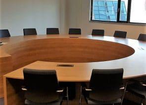 Maatwerk, ronde vergadertafel op maat