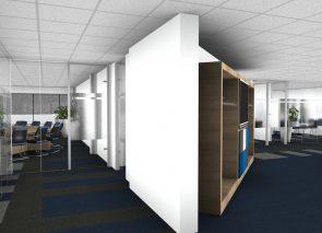 3D inzicht kantoorontwerp entree