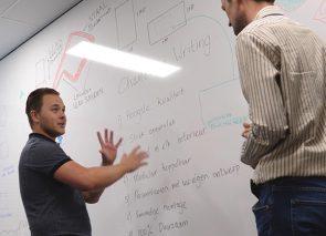 Whiteboardwand voor Agile manier van werken