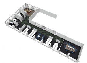 3D ontwerp KantoorinrichtingDaiichi Sankyo