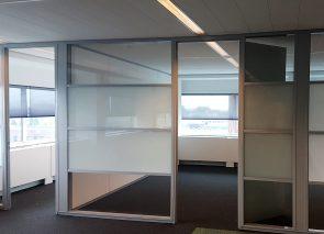 Glaswanden geplaatst bij opdrachtgever in Amsterdam