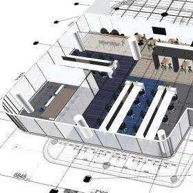 3D Ontwerp Hays in WTC Utrecht BREEAM linker helft