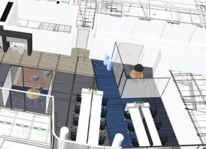 3D ontwerp Hays in WTC Utrecht BREEAM rechter helft