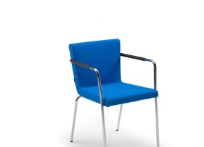 Lande stoel Hopper ST - stapelbaar - Stoel met armleuningen, stoel met hoge of lage rug, stapelbaar, rechte poten, stof of leer.