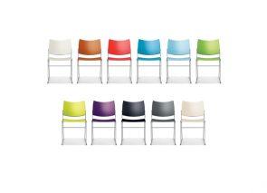 Casala curvy kunststof stoel in uitvoerbaar in vele kleuren