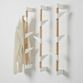cascando bamboowall kapstok haken zijn eenvoudig in hoogte te verplaatsen