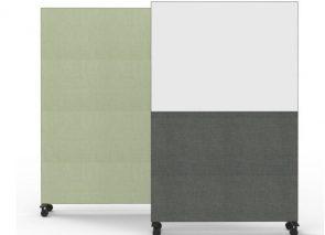 deBlick verplaatsbare space dividers met whitebord