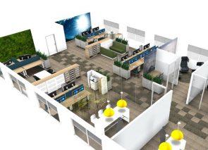 3D kantoorontwerp kantoordesign