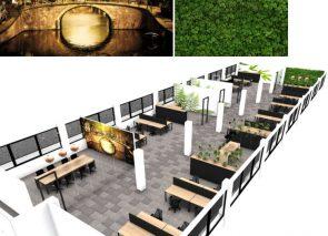 3d kantoorontwerp in natuurlijke sfeer