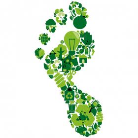 BREEAM duurzaamheidskeurmerk groene voetstappen