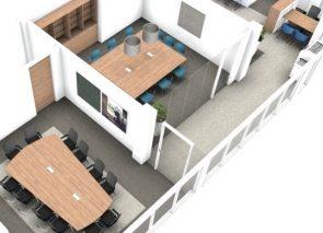 Ontwerp 3D de kantoorinrichter
