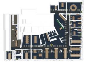 Ontwerp groot kantoorpand in Rotterdam