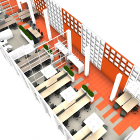 Kantoorontwerp voor communicatiebureau in Rotterdam