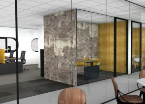 realistische 3D visualisatie van nieuwe kantoorinrichting