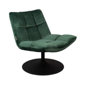 Dutchbone Bar Velvet Lounge chair op ronde voetplaat